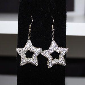 White Star Dangle Earring